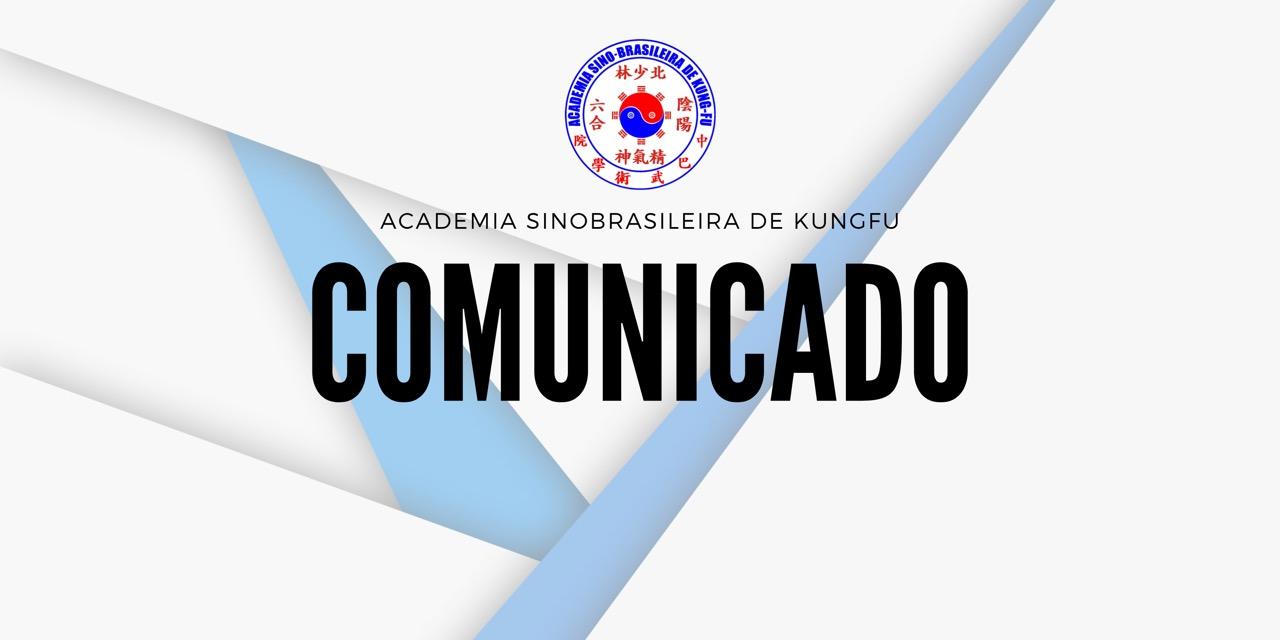 Comunicado Academia Sinobrasileira